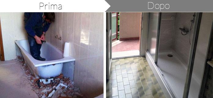 Trasformazione da vasca in doccia, per il tuo bagno, Fiordalisi Bologna